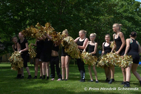 Het Junior pomponteam Explosion
